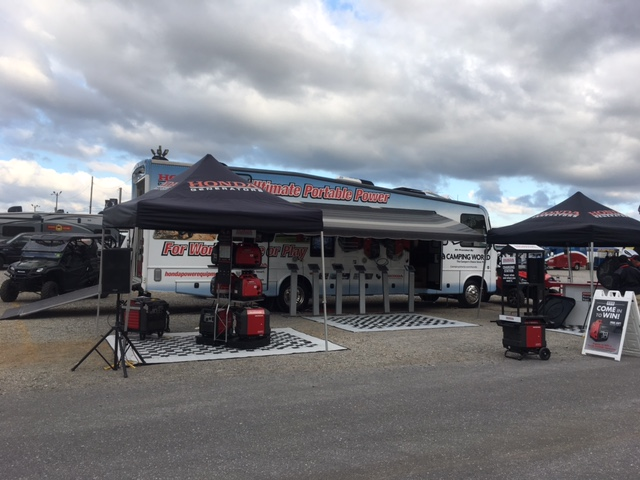 honda generator_product specialist_TPI_unique event solutions_event management_nascar_talladega
